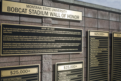 Bobcat Stadium Wall of Honor